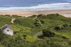 Baía branca do parque - Ballycastle - Irlanda do Norte Imagem de Stock