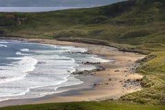 Baía branca do parque - Ballycastle - Irlanda do Norte Fotografia de Stock Royalty Free