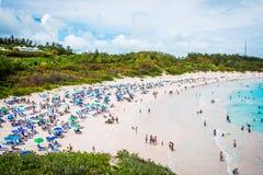 Baía da ferradura da cena da praia Fotos de Stock