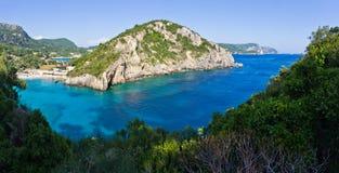 Baía de Paleokastritsa em Corfu, Grécia Imagem de Stock Royalty Free