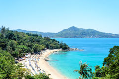 Baía do ponto de vista perto de Kamala Beach em Phuket Imagens de Stock Royalty Free