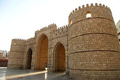 Baab-makkah Tor in historischem Platz Dschidda Saudi-Arabien Dschidda-Albalads lizenzfreies stockbild