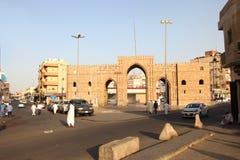 Baab makkahport i jeddah albalad det historiska stället Jeddah Saudiarabien 15-06-2018 Royaltyfri Fotografi