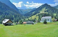 Baad, Kleinwalsertal, Vorarlberg, Oostenrijk stock afbeeldingen
