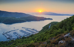 Baai en jachthaven Royalty-vrije Stock Afbeelding