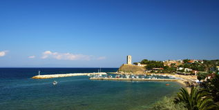 Baai in Griekenland stock foto's
