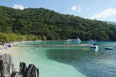 Baai in Labadee-eiland Haïti royalty-vrije stock afbeelding