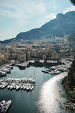 Baai Monaco royalty-vrije stock afbeelding