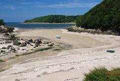 Baai op de kust van Bretagne Royalty-vrije Stock Afbeelding