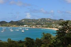 Baai op St. Lucia Royalty-vrije Stock Fotografie