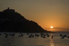 Baai San Sebastian - Concha royalty-vrije stock foto