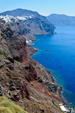 Baai in Santorini Stock Afbeeldingen