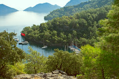 Baai Sarsala in Turkije Royalty-vrije Stock Fotografie