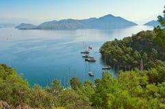Baai Sarsala in Turkije Stock Foto