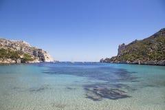 Baai Sormiou in Calanques dichtbij Marseille in Zuid-Frankrijk Stock Foto's