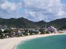 Baai in St. Maarten Stock Afbeeldingen