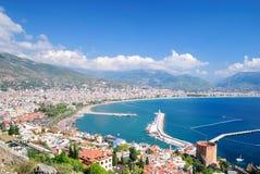 Baai van Alanya. Turkije Royalty-vrije Stock Foto's