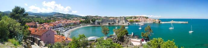 Baai van Collioure Royalty-vrije Stock Afbeeldingen