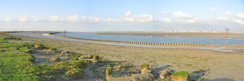Baai van de Somme, Normandië stock foto's