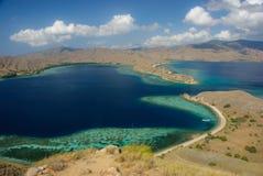 Baai van eiland Komodo Royalty-vrije Stock Afbeeldingen