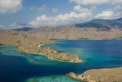 Baai van eiland Komodo Stock Foto