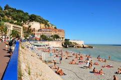 Baai van Engelen, Nice (Frankrijk) Stock Foto's