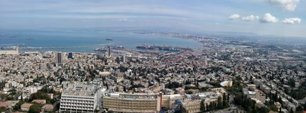 Baai van Haifa Stock Afbeeldingen