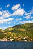 Baai van Kotor, Montenegro stock afbeeldingen