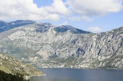 Baai van Kotor, Montenegro Royalty-vrije Stock Foto's