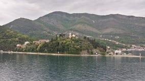 Baai van Kotor, Montenegro Stock Foto