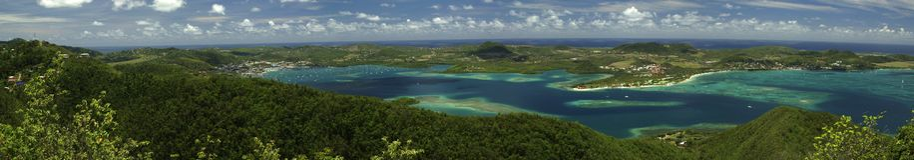 Baai van Le Marin in Martinique Stock Afbeelding