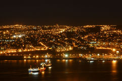 Baai van Valparaiso Stock Fotografie