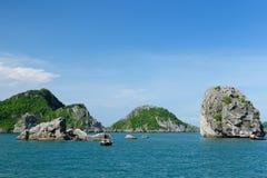 Baai Vietnam - Halong Stock Afbeeldingen