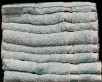 Baal van Pale Blue Towels Royalty-vrije Stock Foto's