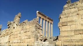 Baalback Roman Temple Arkivfoton
