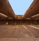 baalbeck黎巴嫩罗马废墟 库存照片