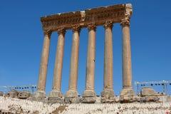 baalbeck στήλες Ρωμαίος Στοκ εικόνες με δικαίωμα ελεύθερης χρήσης