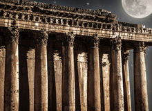 Baalbeck castle in the night Stock Images