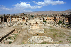 baalbeck heliopolis Ливан Стоковые Фото