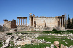Baalbeck (Heliopolis), Lebanon. Famous archaeological site of ancient Roman Ruins in the Beqaa valley  (Lebanon Stock Photo