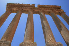 baalbeck Jupiter Lebanon rujnuje świątynię Zdjęcia Royalty Free