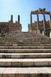 Baalbeck, Lebanon. Ancinet Roman Columns and stairway in Baalbeck, Lebanon Royalty Free Stock Photography