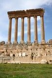 Baalbeck, Lebanon. Famous Six Roman Columns at Ancient Roman Archaeological Site, Baalbeck, Lebanon Stock Images