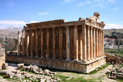 Baalbeck, Lebanon. Famous  Roman Ruins at Ancient Archaeological Site, Baalbeck, Lebanon Royalty Free Stock Photo