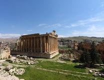 Baalbeck, Lebanon (Wide Angle view). Baalbeck, Ancient Roman Ruins Landmark and famous tourist destination in the Beqaa Valley, Lebanon Royalty Free Stock Images