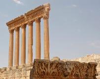 baalbeck ruiny obrazy royalty free