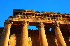 Baalbeck temple in Heliopolis Royalty Free Stock Image
