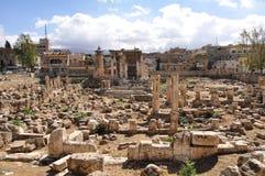 baalbek废墟 免版税图库摄影