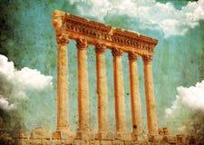 baalbek ναός Δία Λίβανος s στοκ φωτογραφία