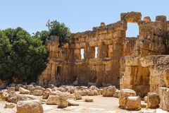 Baalbek Ancient city in Lebanon. Royalty Free Stock Images